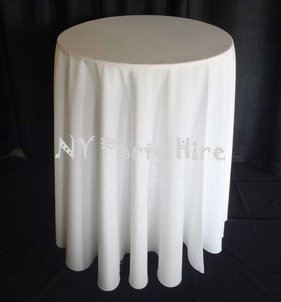 Round Table With Tablecloth.Round Table Cloth White