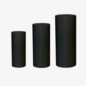 Black Round Plinth, Round Plinth, Black Plinth, Cylinder Black Plinth, Black Cylinder Plinth, Round Plinth