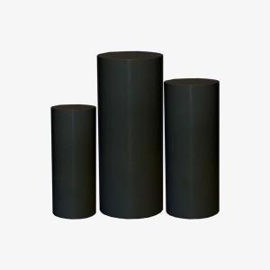 Black Plinths, Black cylinder Plinths, Cylinder Plinths, Black Stands