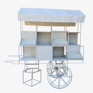 Chanel Cart, White Chanel Cart, Flower Cart, Flower Stand, Lolly Cart, Elegant Cart
